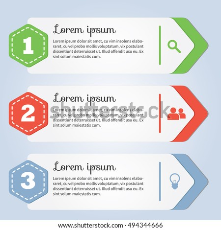 info-graphic banner. info-graphic element vector illustration