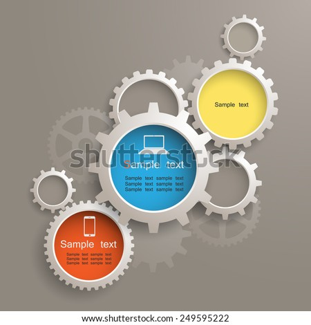 info graphic gears