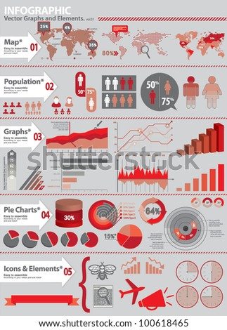 INFO GRAPHIC KIT. Set of global financial icons and graphic elements.