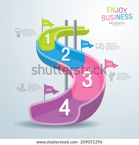 Info graphics vector design template