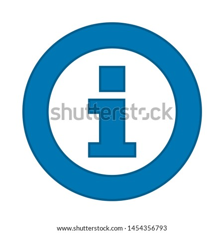 info icon. flat illustration of info. vector icon. info sign symbol