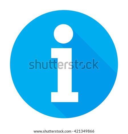 Info icon Flat information button sign/symbol/sticker. For mobile user interface