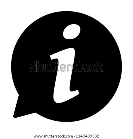Info icon, Information sign icon. Info speech bubble symbol. i letter vector.
