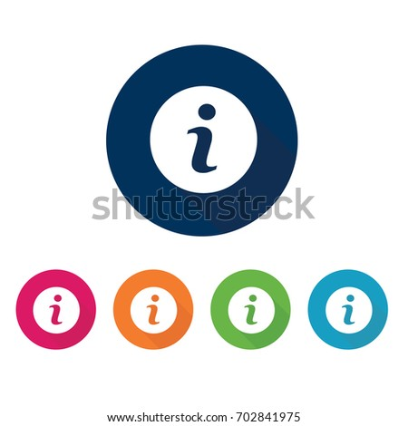 Info icon. Information symbol. Vector set.