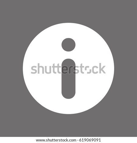 Info icon stock vector illustration