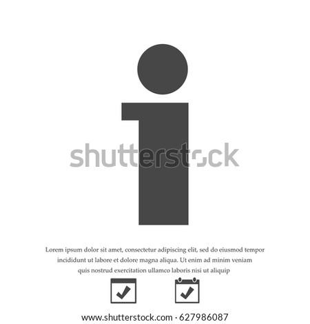 info icon, stock vector illustration flat design