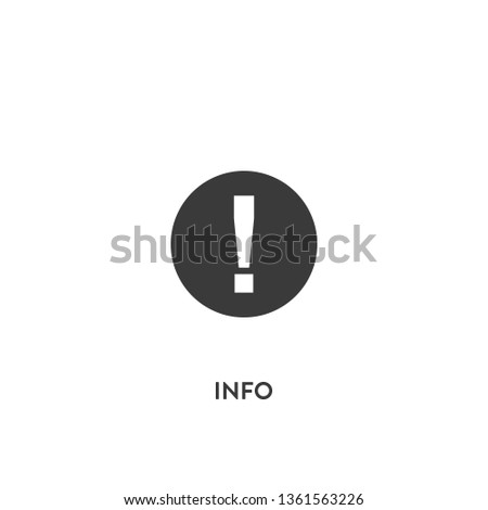 info icon vector. info sign on white background. info icon for web and app