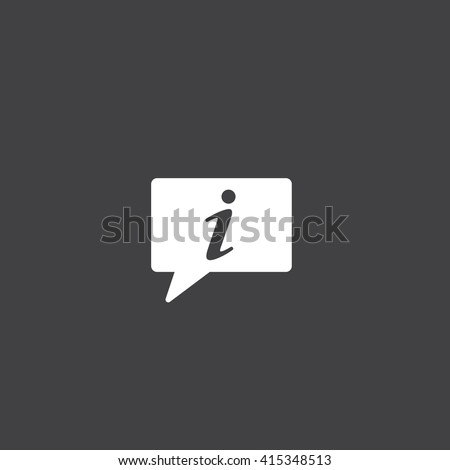 info icon vector, solid illustration, pictogram isolated on black
