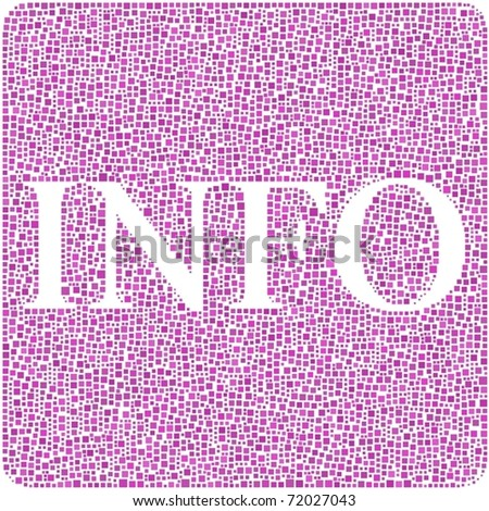 Info in a pink square