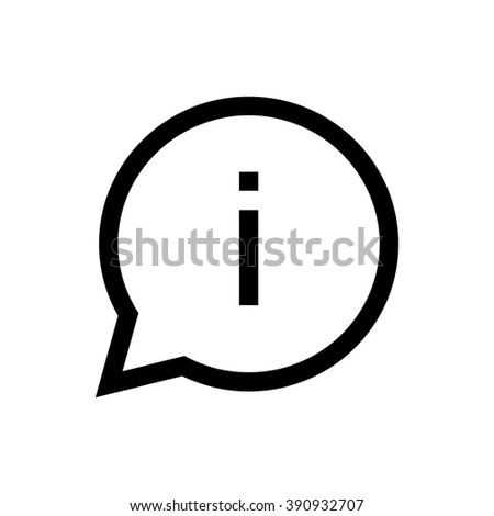 Info line icon. Pixel perfect fully editable vector icon suitable for websites, info graphics and print media.