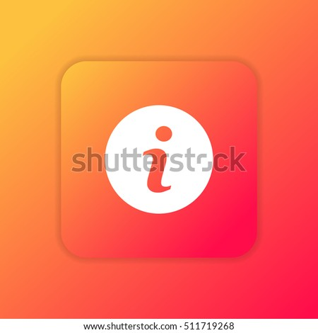 Info orange bright app ui/ux Icon / Logo design