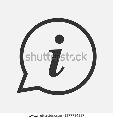 Info Sign. Information Icon  Illustration As A Simple Vector & Trendy Symbol for Design and Communication Websites, Presentation, Helpdesk or Mobile Application.