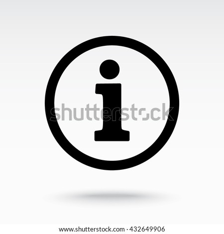 Info sign on hand icon, vector illustration. Flat design style