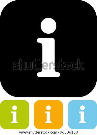 Info sign - Vector icon isolated - stock vector