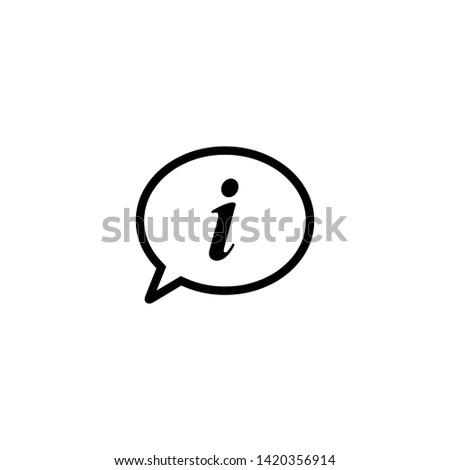 info sign vector. Info icon symbol