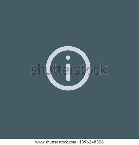 Info vector icon. Info concept stroke symbol design. Thin graphic elements vector illustration, outline pattern for your web site design, logo, UI. EPS 10.