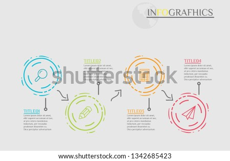Infografhic titles 4 titles,Cricle 4 titles,Business vector templete