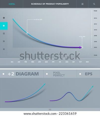 Infographic arrow diagram graph chart