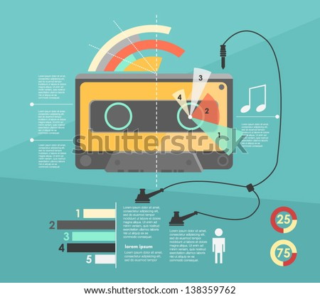 infographic audio cassette