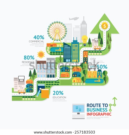 infographic business arrow