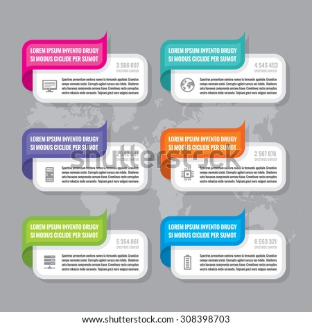Infographic business concept - colored horizontal vector banners. Design elements.