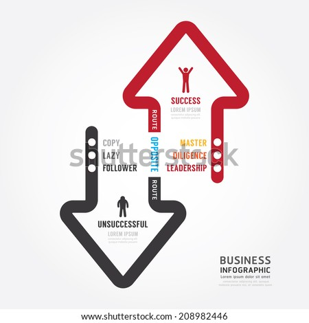 Infographic bussiness. route to success concept template design . concept vector illustration