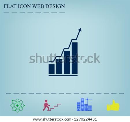 Infographic. Chart icon. Growing graph simbol.