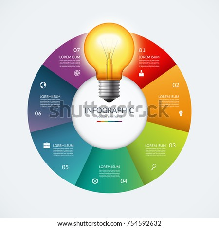 infographic circle with glowing