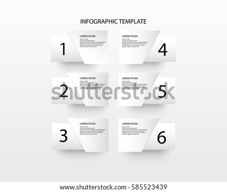 infographic concept. Vector template with 6 options, parts, stages, buttons. Can be used for web, diagram, graph, presentation, chart, report paper, step by step infographics. Abstract background.