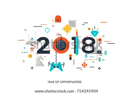 infographic concept 2018 year