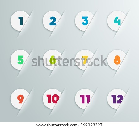 infographic 3d numbered step