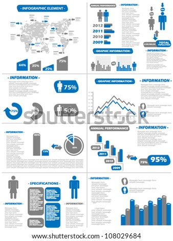 Infographic Demographics New Style Blue Stock Vector Illustration ...