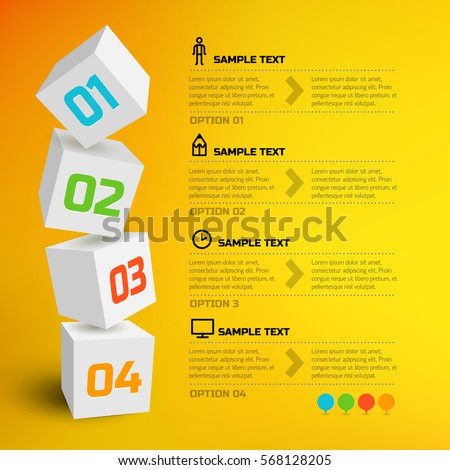 infographic design concept with