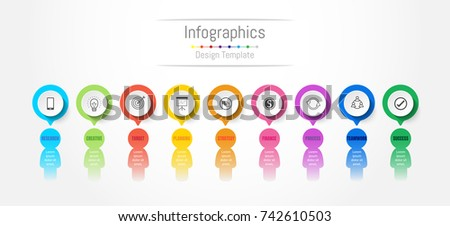 Infographic design elements for your business data with 9 options, parts, steps, timelines or processes. People's communication concept, Vector Illustration.