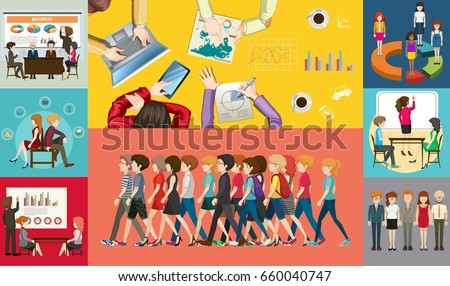 Infographic design for business people illustration