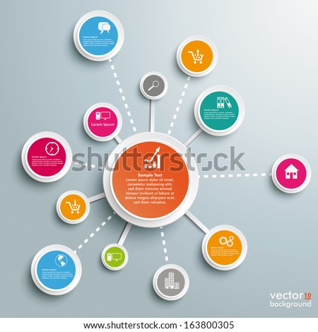 Infographic design on the grey background. Eps 10 vector file.