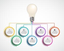 Infographic design organization chart template. Vector illustration