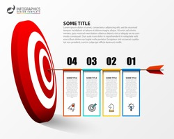 Infographic design template. Business concept with 4 steps. Can be used for workflow layout, diagram, banner, webdesign. Vector illustration