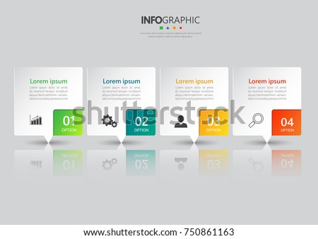 Infographic design template, Business concept with 4 steps or options, can be used for workflow layout, diagram, annual report, web design. Creative banner,label vector