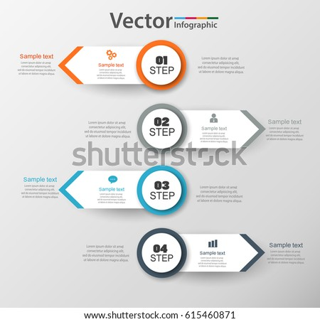 Modern four steps business infographic template can be used for infographic design template can be used for workflow layout diagram number options web ccuart Choice Image