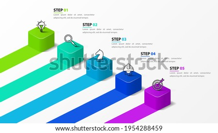 Infographic design template. Creative concept with 5 steps. Can be used for workflow layout, diagram, banner, webdesign. Vector illustration Photo stock ©
