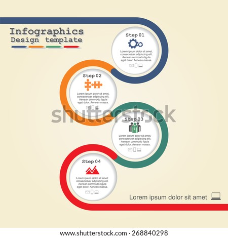 Infographic design template. Vector illustration Eps 8.