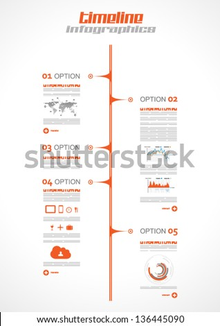 Infographic Design Template With Paper Tags. Idea To Display ...