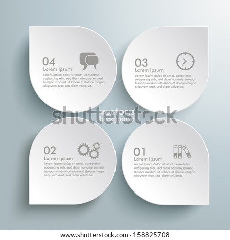 Infographic design white circles on the grey background. Eps 10 vector file.