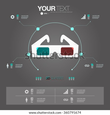 infographic design with...