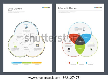 Infographic Diagram Chart. Vector illustration ストックフォト ©