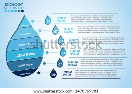 infographic eco water blue