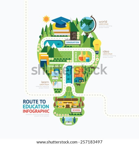 infographic education light