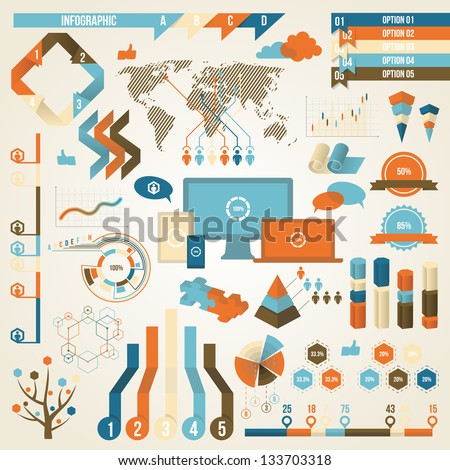 Infographic Elements and Communication Concept. Vector Design Symbol.