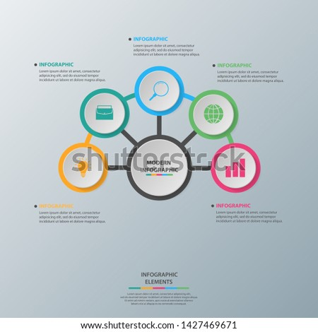 Infographic elements. Business concept timeline. Modern infograph template. Can use for workflow layout, diagram, banner, webdesign, presentation. Vector illustration
